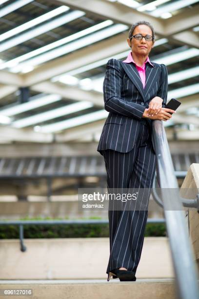Distinguished Senior African American Businesswoman