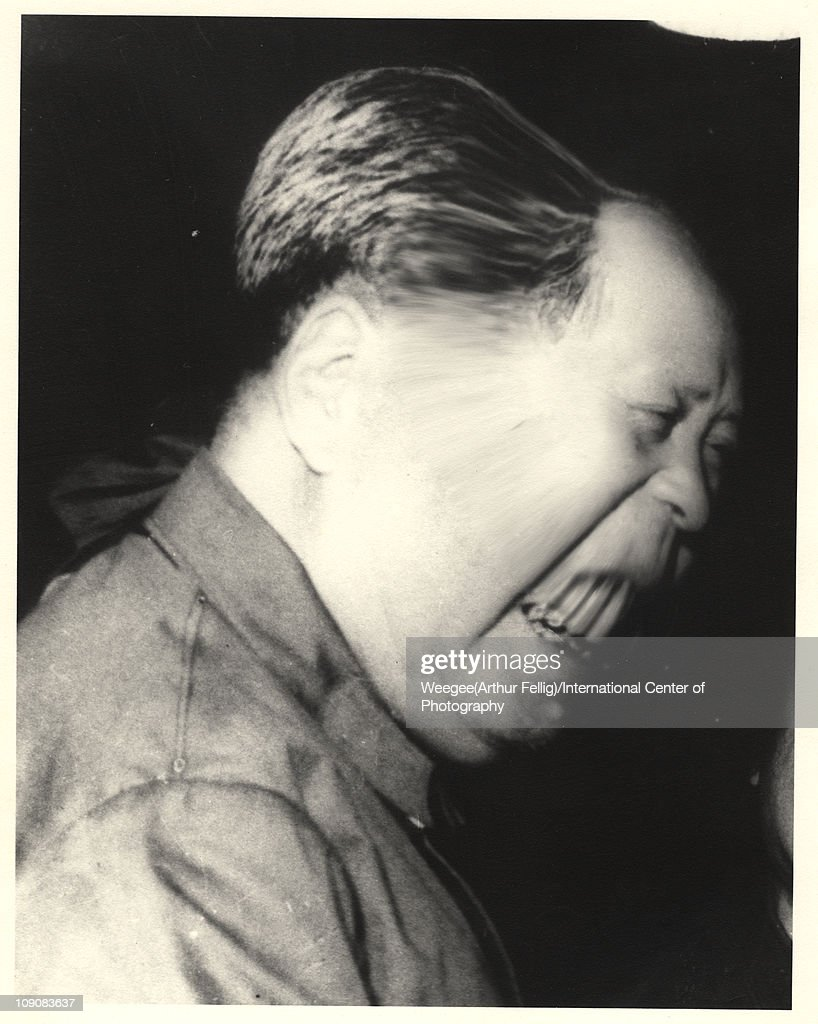 Distorted image of a Chinese dicator and chairman of the People's Republic of China <a gi-track='captionPersonalityLinkClicked' href=/galleries/search?phrase=Mao+Zedong&family=editorial&specificpeople=77863 ng-click='$event.stopPropagation()'>Mao Zedong</a> (Tse-Tung) (1893 - 1976) as he smiles in profile, 1966. (Photo by Weegee(Arthur Fellig)/International Center of Photography/Getty Images)