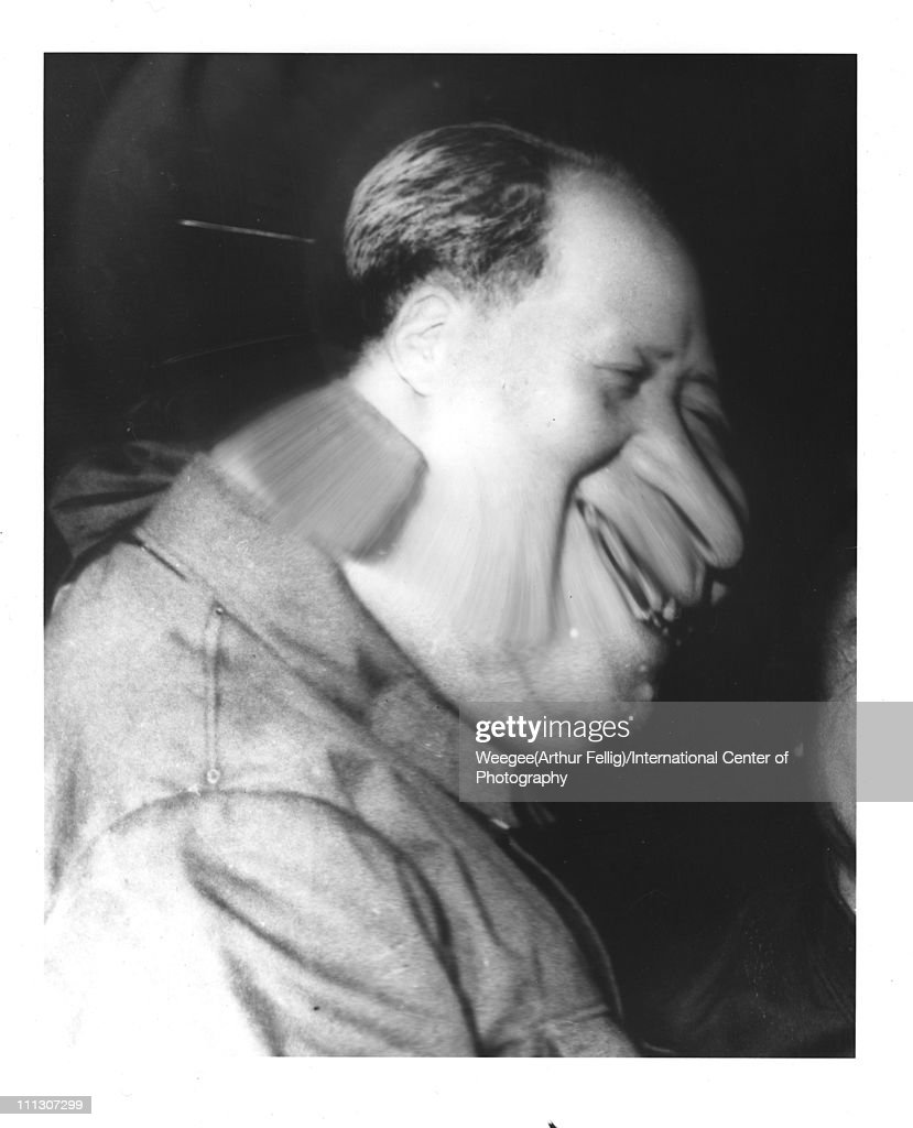 Distorted image of a Chinese dicator and chairman of the People's Republic of China Mao Zedong (Tse-Tung) (1893 - 1976) as he smiles in profile, 1966. (Photo by Weegee(Arthur Fellig)/International Center of Photography/Getty Images)