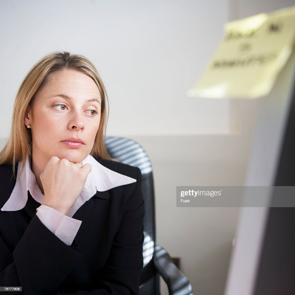 Distracted Businesswoman : Stock Photo