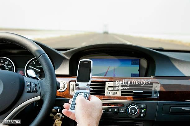 落ち着かないドライバ、携帯電話、米国