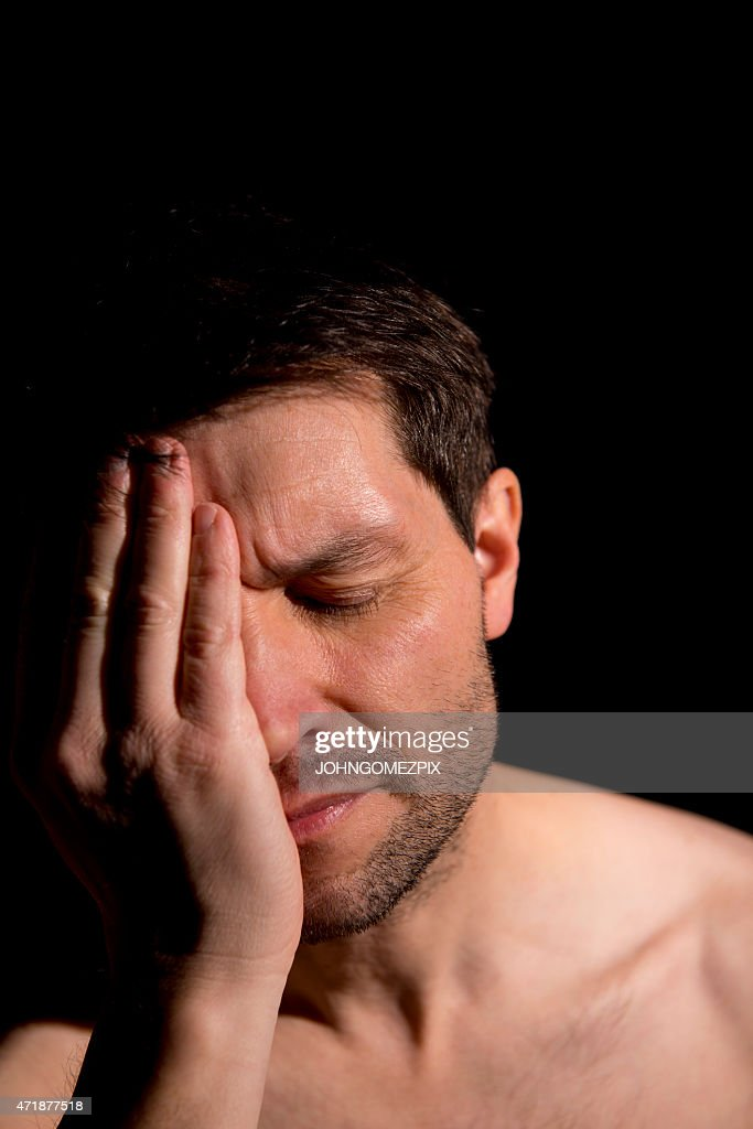 Distraught Man stock image. Image of deficiency, misery - 16908753