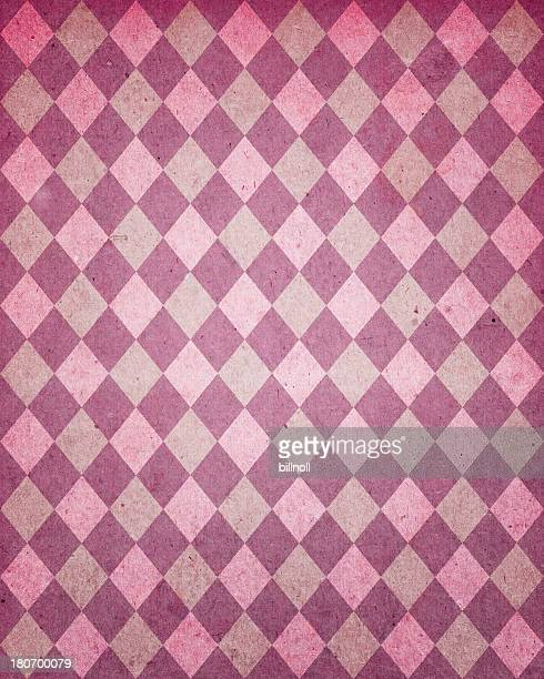 Diamant-Muster-Papier in Used-Optik