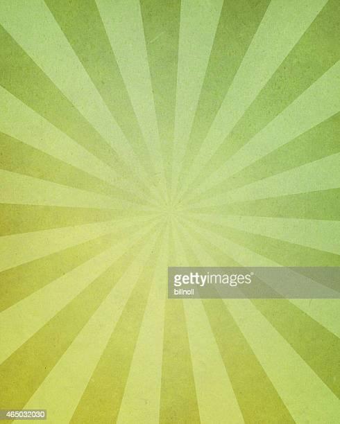 ディストレスト加工のグリーンペーパー、明るい光線