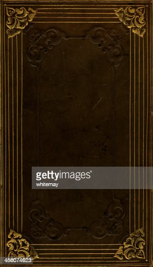 Book Cover Stock Images : Distressed leather book cover stock photo getty images