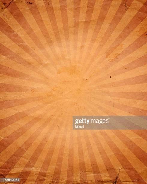 Papier vieilli avec motif de soleil ray