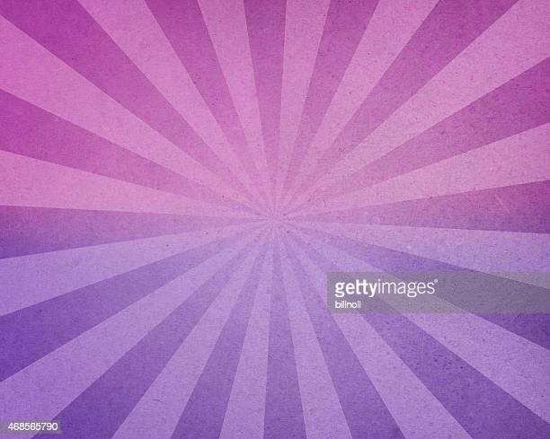 Used-Look mit rosa und lila Papier mit Sonnenstrahlen