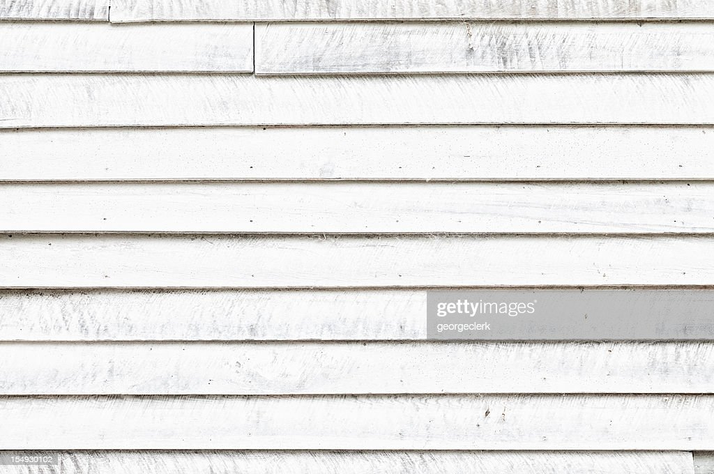 Distressed White Wooden Wall : Stock Photo