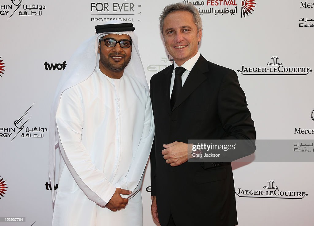 Distribution Director of Jaeger-LeCoultre Jerome Favier and Director of ADFF Ali Al-Jabri attend day one of the Abu Dhabi Film Festival 2012 at Emirates Palace on October 11, 2012 in Abu Dhabi, United Arab Emirates.