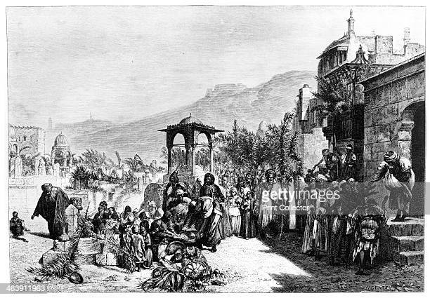 'Distribution of Dates in a Cemetery in Cairo' 1881 Published in L'Egypt by Gaston Maspero 1881