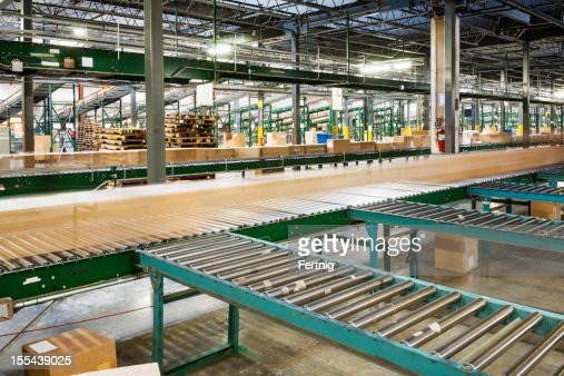 Distribution warehouse. Shipping, receiving and Logistics