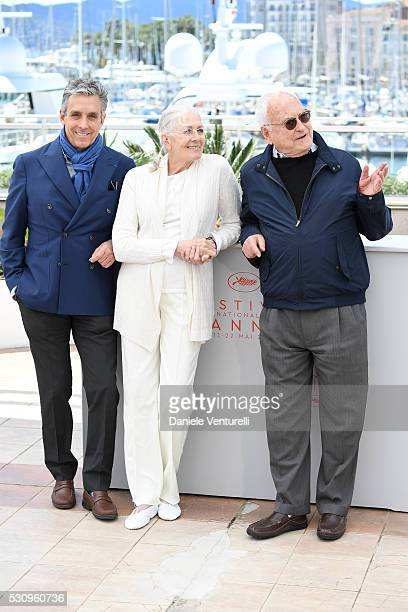 Distributor Charles S Cohen actress Vanessa Redgrave and director Jim Ivory attend the 'Howards End' photocall during the 69th annual Cannes Film...