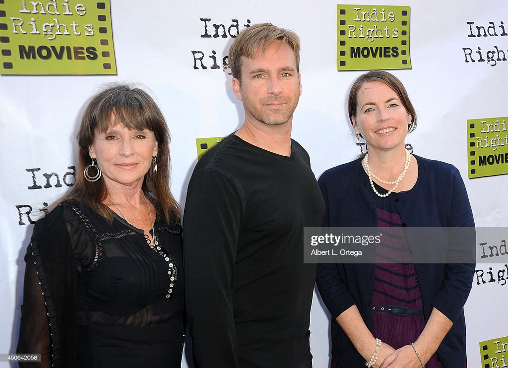 Distributors Linda Nelson, Michael Madison and writer Margaret Langendorf arrive for the Premiere Of 'The World Famous Kid Detective' held at The Arena Theater on June 14, 2014 in Hollywood, California.