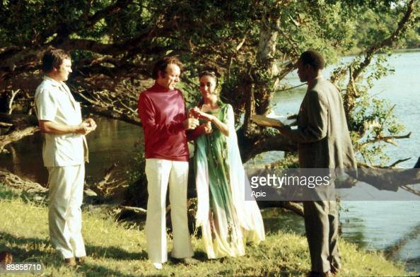 District Commissioner Abrose Masalila conducts the second marriage ceremony of Welsh actor Richard Burton and Britishborn American actress Elizabeth...