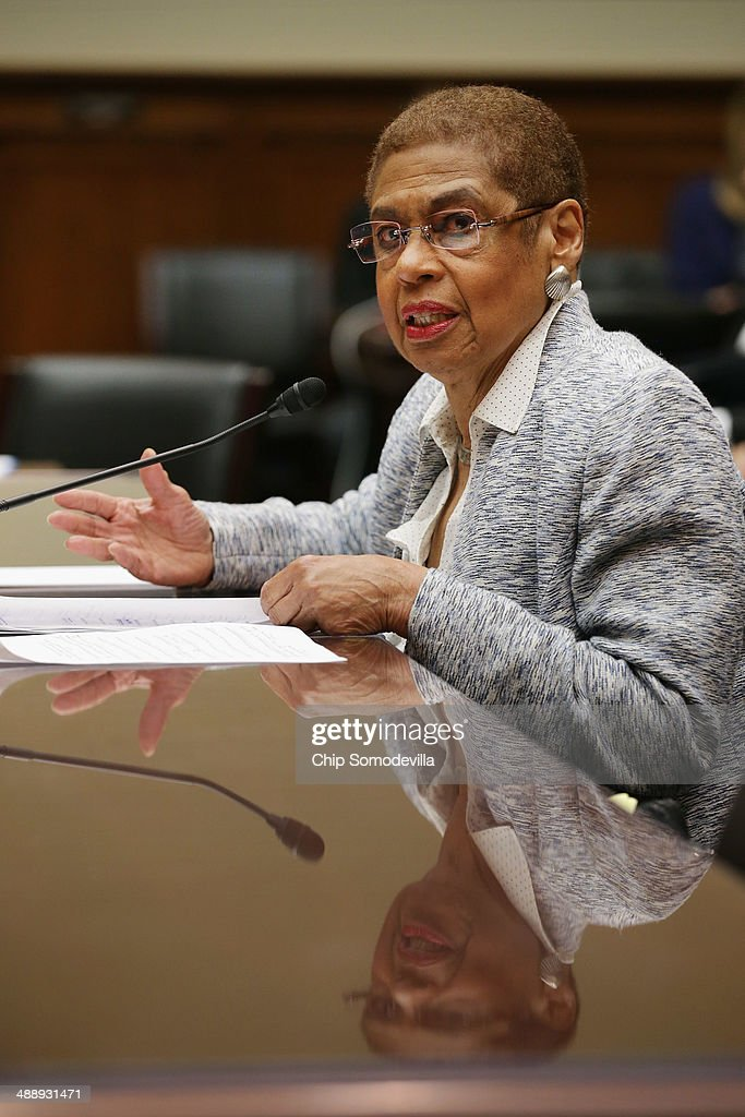 District of Columbia Delegate Elenor Holmes Norton (D-DC) testifies before the House Oversight and Government Reform Subcommittee on Government Operations in the Rayburn House Office Building May 9, 2014 in Washington, DC. Norton and other witnesses testified about the federal government's enforcement of marijuana laws in the face of the district's efforts to decriminalize possession of the drug.
