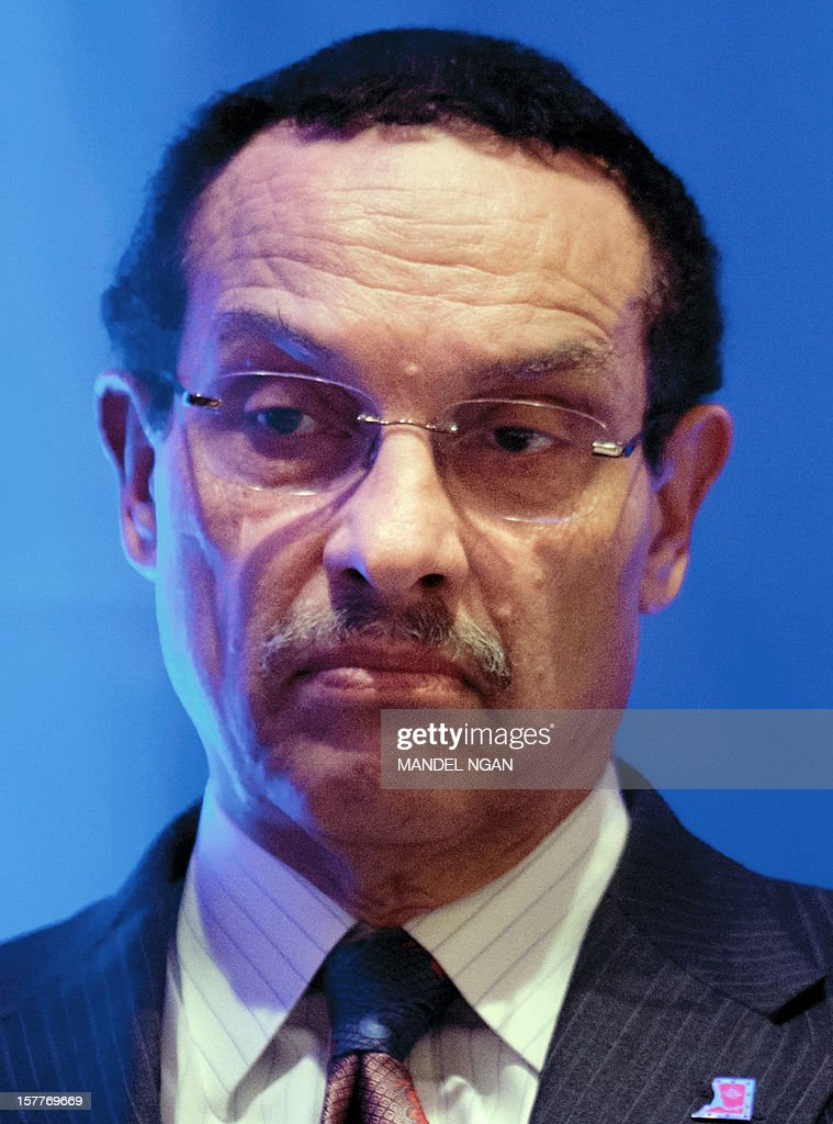 District of Columbia Mayor Vincent Gray is seen on December 6, 2012 during the opening plenary breakfast of the 36th Annual Legislative Conference of The National Black Caucus of State Legislators (NBCSL) at a hotel in Washington, DC. AFP PHOTO/Mandel NGAN