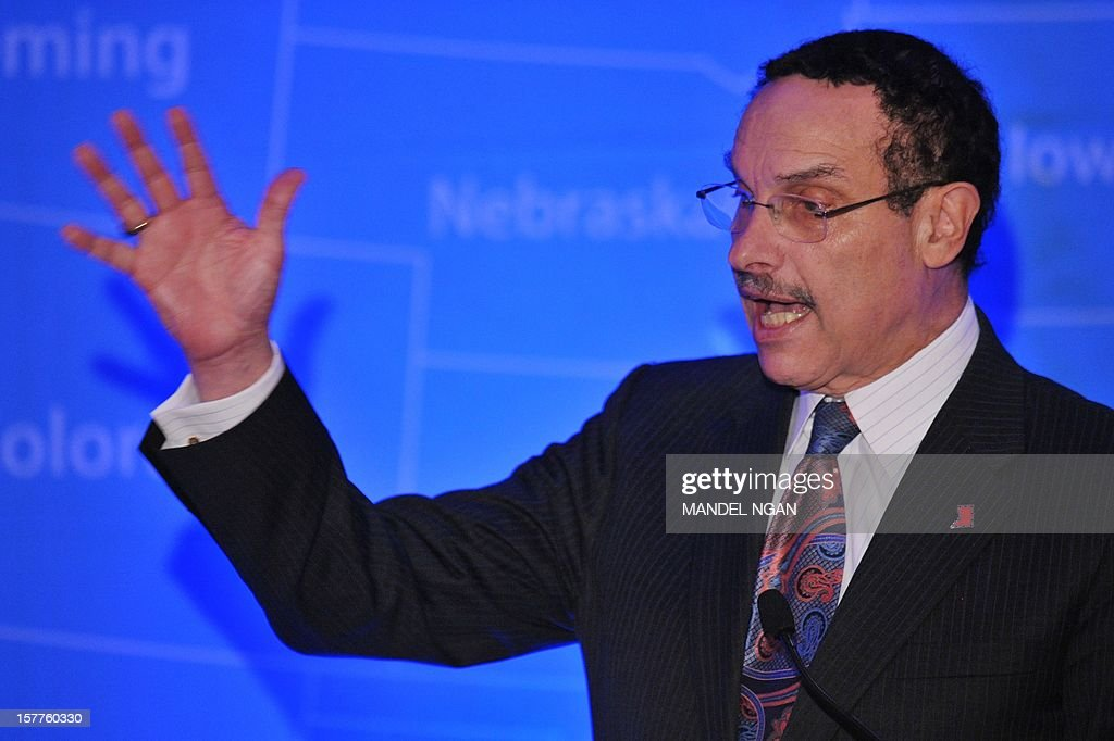 District of Columbia Mayor Vincent Gray speaks on December 6, 2012 during the opening plenary breakfast of the 36th Annual Legislative Conference of The National Black Caucus of State Legislators (NBCSL) at a hotel in Washington, DC. AFP PHOTO/Mandel NGAN