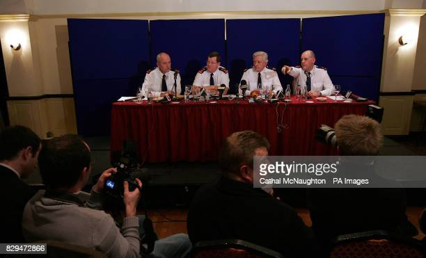 District Superintendent Liam Hayes Chief Superintendent Kieran McCann Assistant Commissioner Tony Hickey and Superintendent Kevin Donohue during a...