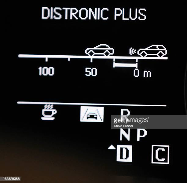 Distronic is Mercedes Benz's smart cruise control that slows your car automatically The Coffee Cup refers to the Attention Assist feature to detect...