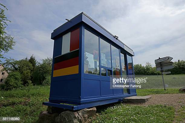 A disused control point on the France German border is now used as a free library for the people of the French border village of Apach close to the...