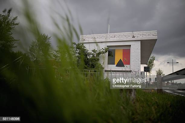 A disused customs control point is boarded up on May 10 2016 in Adinkerke Belgium The Schengen Agreement which led to the creation of Europe's...