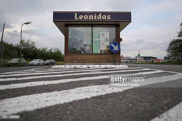 A disused customs control point is now used as a florist shop on May 10 2016 in De Panne Belgium The Schengen Agreement which led to the creation of...