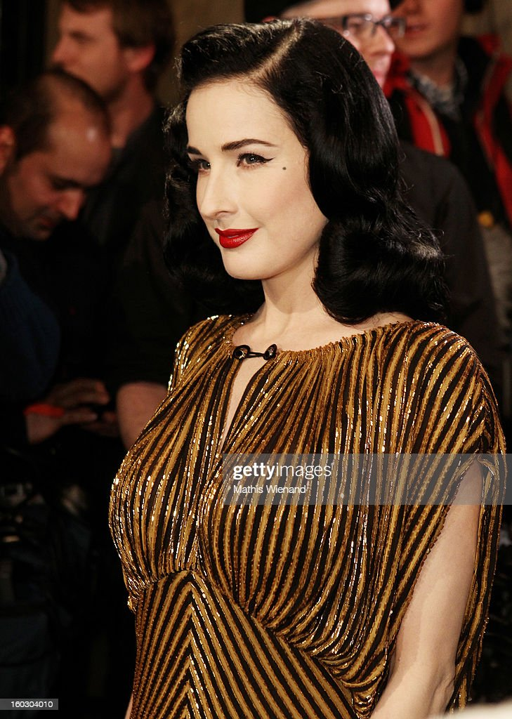 Dita van Teese attends the Lambertz Monday Night at Alter Wartesaal on January 28, 2013 in Cologne, Germany.