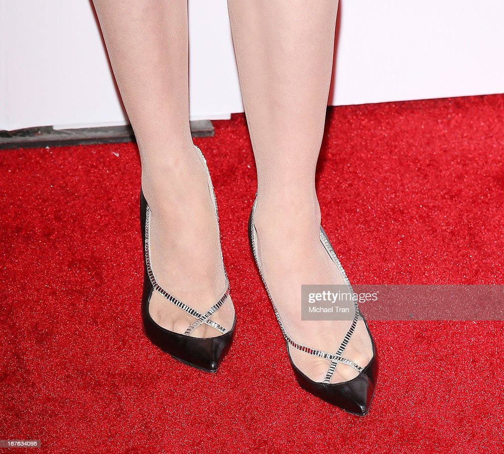Dita Von Teese (shoe detail) arrives at the 7th Annual Britweek: BritWeek Design Icon Award presentation held at Christopher Guy West Hollywood Showroom on April 26, 2013 in West Hollywood, California.