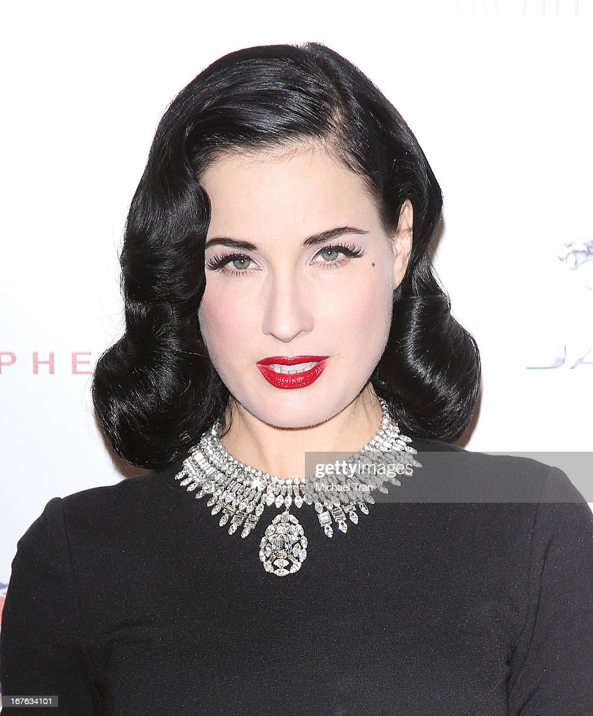 <a gi-track='captionPersonalityLinkClicked' href=/galleries/search?phrase=Dita+Von+Teese&family=editorial&specificpeople=210578 ng-click='$event.stopPropagation()'>Dita Von Teese</a> arrives at the 7th Annual Britweek: BritWeek Design Icon Award presentation held at Christopher Guy West Hollywood Showroom on April 26, 2013 in West Hollywood, California.