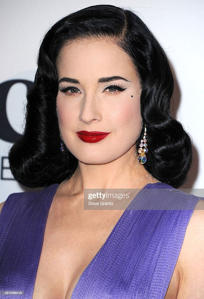 Dita Von Teese arrives at the MOCA 35th Anniversary Gala Celebration at The Geffen Contemporary at MOCA on March 29, 2014 in Los Angeles, California.