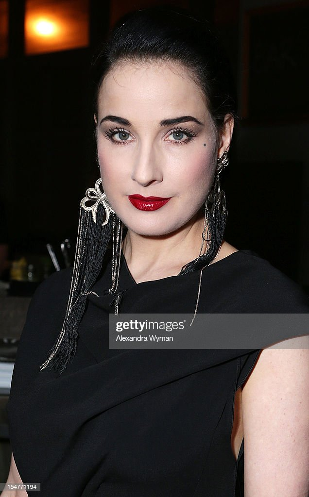 <a gi-track='captionPersonalityLinkClicked' href=/galleries/search?phrase=Dita+Von+Teese&family=editorial&specificpeople=210578 ng-click='$event.stopPropagation()'>Dita Von Teese</a> at Flaunt Magazine Fetes Latest Issue Hosted By Leighton Meester With Diesel Black Gold & Stetson Bourbon held at Ink on October 25, 2012 in Los Angeles, California.