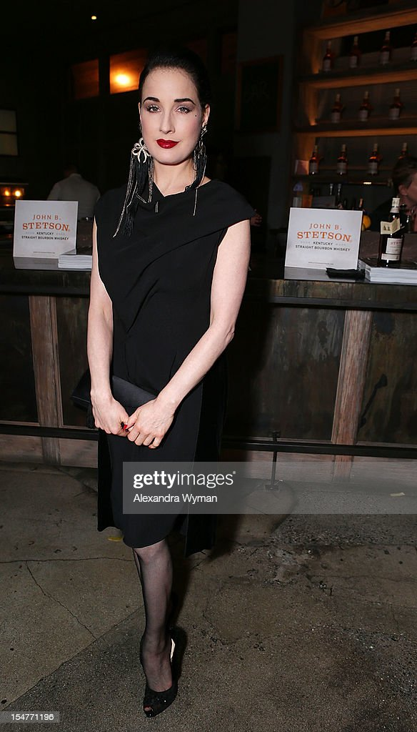 Dita Von Teese at Flaunt Magazine Fetes Latest Issue Hosted By Leighton Meester With Diesel Black Gold & Stetson Bourbon held at Ink on October 25, 2012 in Los Angeles, California.