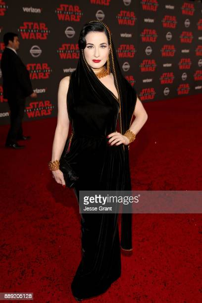 Dita Von Teese at Star Wars The Last Jedi Premiere at The Shrine Auditorium on December 9 2017 in Los Angeles California