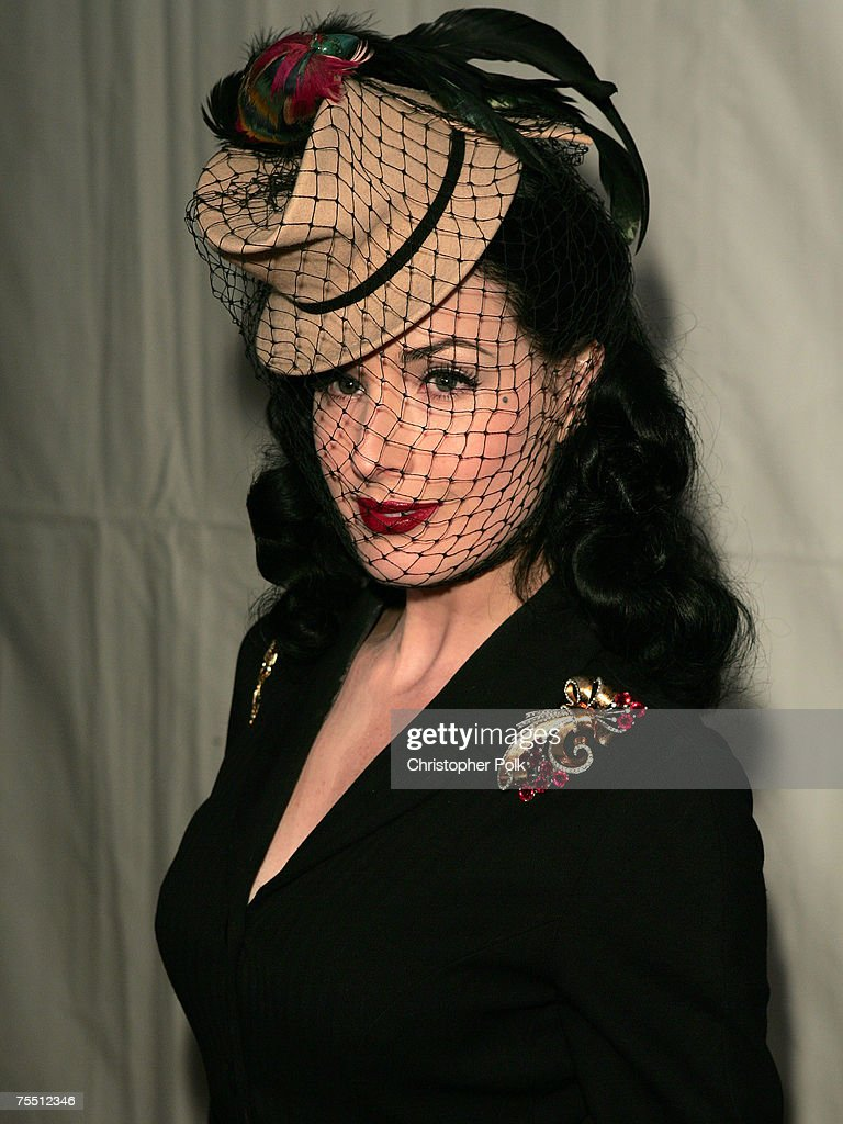 Dita von Teese at the DKNY Jeans and Lo-Fi Gallery Present 'Mick Rock Live in LA' Exhibit at Lo-Fi Gallery in Hollywood, California.