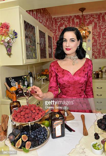 Dita Von Teese attends A Live Virtual Holiday Soiree hosted by Cointreau and Dita Von Teese on October 29 2013 in Los Angeles California