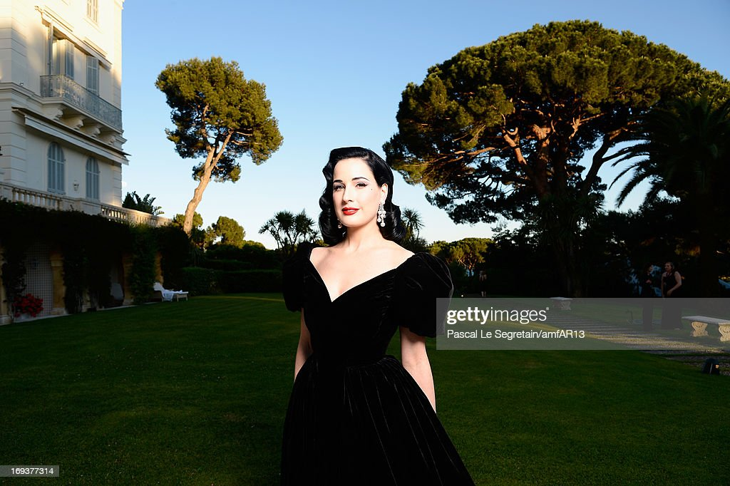 Dita von Teese attends amfAR's 20th Annual Cinema Against AIDS during The 66th Annual Cannes Film Festival at Hotel du Cap-Eden-Roc on May 23, 2013 in Cap d'Antibes, France.