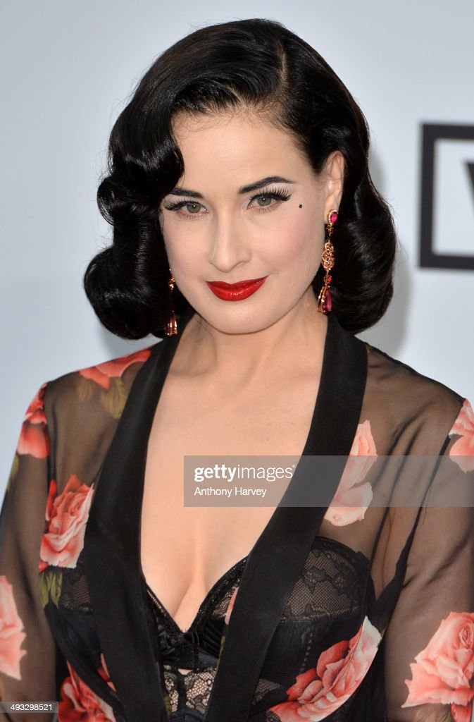 <a gi-track='captionPersonalityLinkClicked' href=/galleries/search?phrase=Dita+Von+Teese&family=editorial&specificpeople=210578 ng-click='$event.stopPropagation()'>Dita Von Teese</a> attends amfAR's 21st Cinema Against AIDS Gala, Presented By WORLDVIEW, BOLD FILMS, And BVLGARI at the 67th Annual Cannes Film Festival on May 22, 2014 in Cap d'Antibes, France.