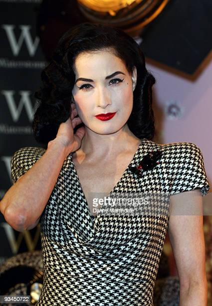 Dita Von Teese attends book signing at Waterstone's Piccadilly on November 27 2009 in London England