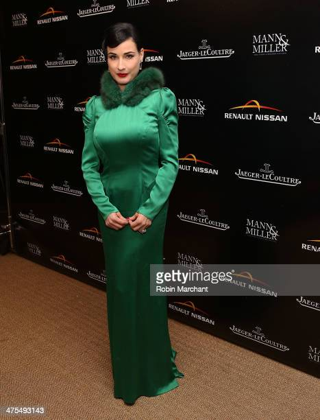 Dita Von Teese attends Chaplin's Celebrate The 100th Anniversary Of 'The Tramp' on February 27 2014 in West Hollywood California
