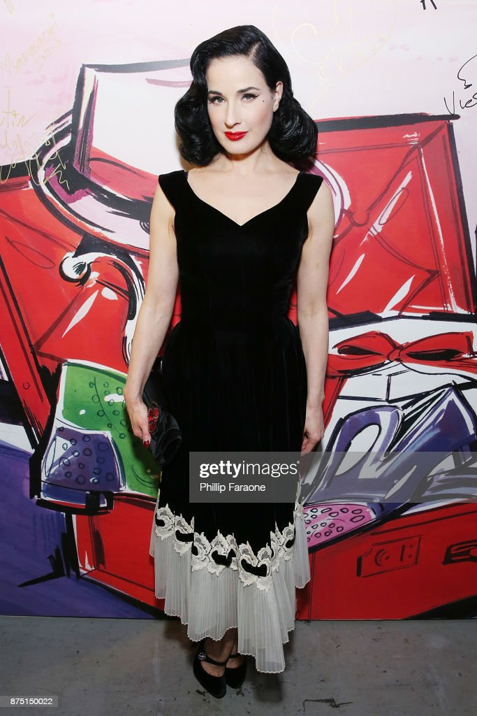 Dita Von Teese attends Christian Louboutin and Sabyasachi Unveil Capsule Collection at Just One Eye on November 16, 2017 in Los Angeles, California.