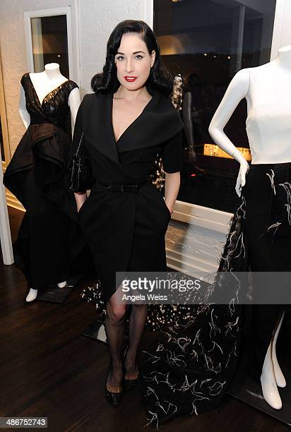 Dita Von Teese attends Christian Siriano Fall 2014 LA preview cocktail party at Decades on April 25 2014 in Los Angeles California