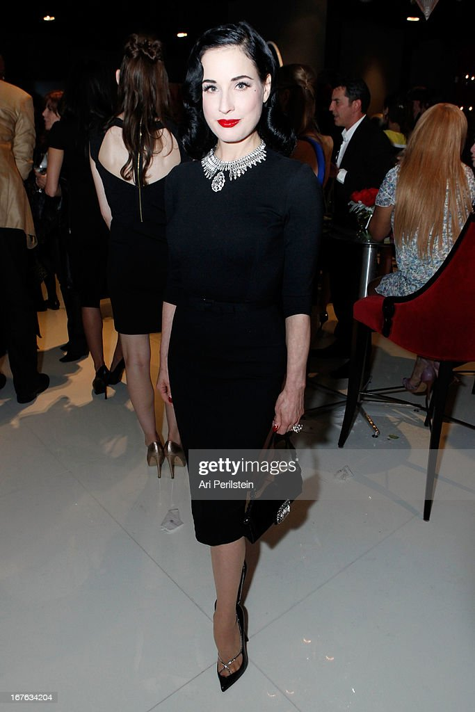 Dita Von Teese attends Christopher Guy Britweek Event Honoring Jaguar Creative Director Ian Callum at Christopher Guy Beverly Hills on April 27, 2013 in Beverly Hills, California.