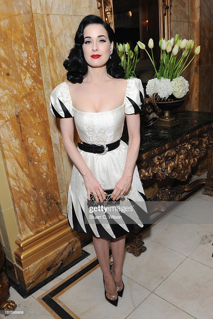 Dita Von Teese attends day two of the-miumiu-london, a temporary women's club at Cafe Royal on November 28, 2012 in London, England.