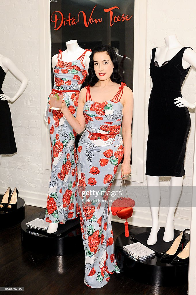 <a gi-track='captionPersonalityLinkClicked' href=/galleries/search?phrase=Dita+Von+Teese&family=editorial&specificpeople=210578 ng-click='$event.stopPropagation()'>Dita Von Teese</a> attends <a gi-track='captionPersonalityLinkClicked' href=/galleries/search?phrase=Dita+Von+Teese&family=editorial&specificpeople=210578 ng-click='$event.stopPropagation()'>Dita Von Teese</a> Collection Launch At Decades on October 18, 2012 in Los Angeles, California.