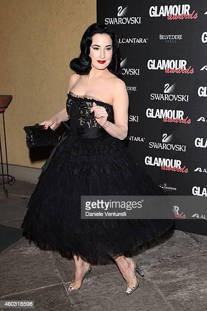 Dita von Teese attends Glamour Awards 2014 on December 11 2014 in Milan Italy