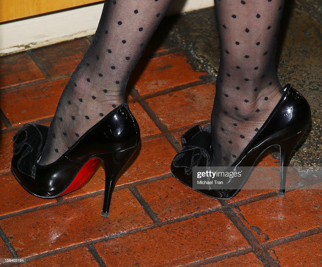 <a gi-track='captionPersonalityLinkClicked' href=/galleries/search?phrase=Dita+Von+Teese&family=editorial&specificpeople=210578 ng-click='$event.stopPropagation()'>Dita Von Teese</a> (shoe detail) attends her U.S. perfume launch and in-store appearance held at Ron Robinson Fred Segal on December 15, 2012 in West Hollywood, California.