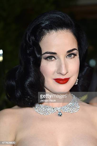 Dita Von Teese attends Pasquale Bruni Giardini Segreti Cocktail Party at on June 18 2015 in Milan Italy