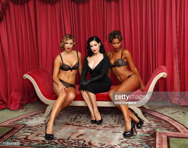 Dita Von Teese attends photocall to launch her new design for Wonderbra The Party Edition at The Dorchester on September 23 2009 in London England