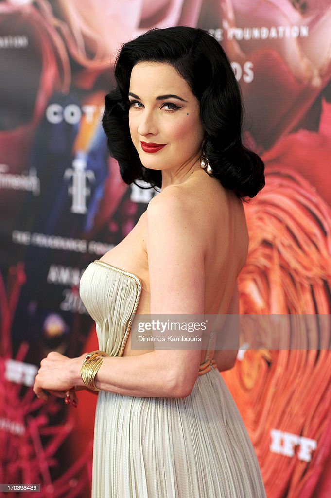 Dita Von Teese attends the 2013 Fragrance Foundation Awards at Alice Tully Hall at Lincoln Center on June 12, 2013 in New York City.