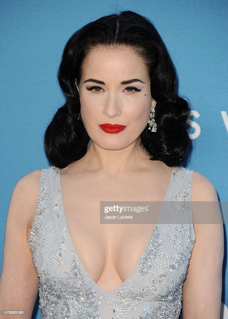 Dita Von Teese attends the 2015 MOCA Gala at The Geffen Contemporary at MOCA on May 30 2015 in Los Angeles California